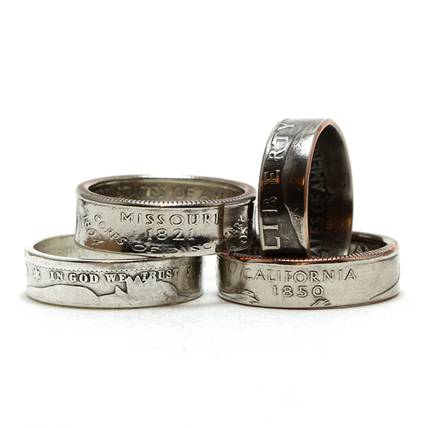 Quarter Coin Rings