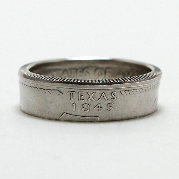Texas Quarter Coin Ring