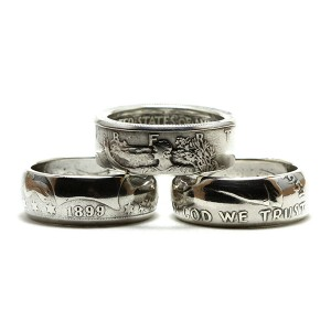 Half Dollar Coin Rings