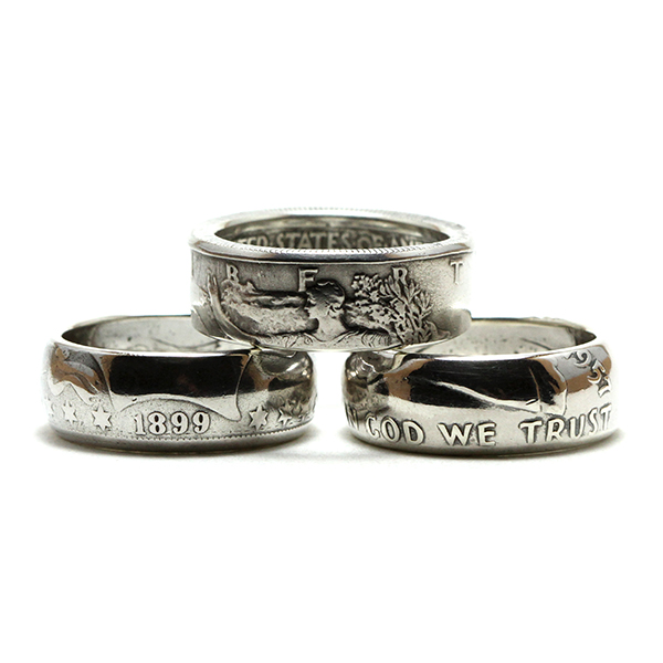 Half Dollar Coin Rings